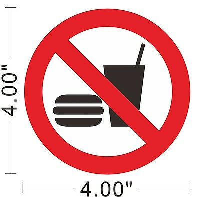 No Food Drink Decal Vinyl Sticker Warning Safety Sign Store Office Building~A160