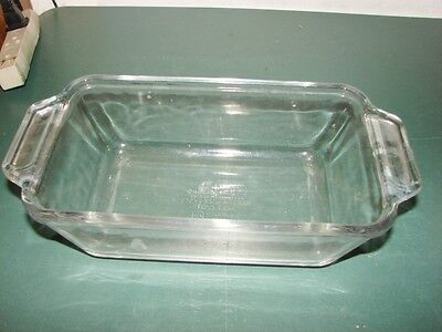Glass Anchor Ovenware Loaf Pan/Bread Pan-Used