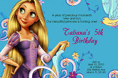 Tangled Birthday Invitations U-Print  24hr Service 4x6 or 5x7