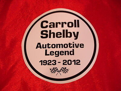 Carroll Shelby Tribute Decal Sticker Cobra Mustang Le Mans