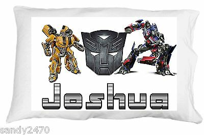 Transformers personalized standard/queen pillowcase