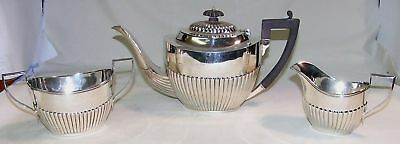 Queen Anne 3 Pc Tea Set Ryrie Bros Sterling Silver