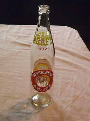 Vintage Barrelhead Root Beer Soda 16 Fl Oz  Bottle