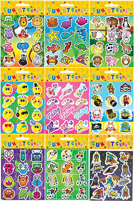 Childrens Stickers Party Loot Bag Toys Fillers 14 Designs - Choose your Quantity