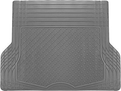 Trunk Cargo Floor Mats for Cars All Weather Rubber Grey Heavy Duty Auto Liners