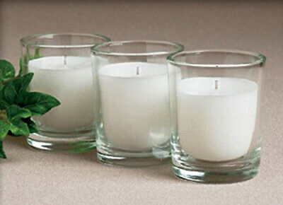 200 Wedding Bomboniere Table Decoration Votive Candle in Glass Holder White Wax