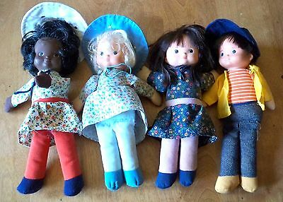 Set of 4 VINTAGE Fisher Price DOLL 242 Billie, 240 Mikey, 241 Muffy & 243 Mobbie
