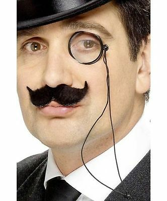 Black Monocle Eye Piece Steampunk Victorian Gentleman Costume Spectacle Monocle