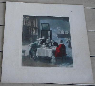 Political Discussion, Beckman Phila 286 Artwork Print, LOOKS OLD, GOOD COND