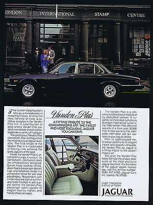 1986 Jaguar Vanden Plas Car Photo London Stamp Centre Vintage Print Ad