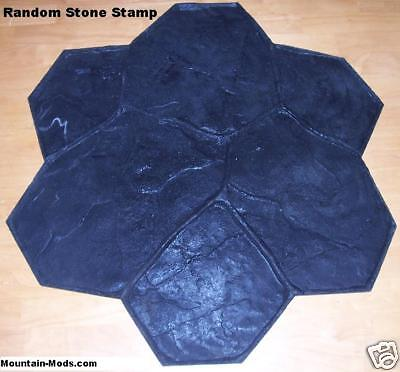 10  Random Stone Decorative Concrete Cement texture Imprint Stamps Mats SET New