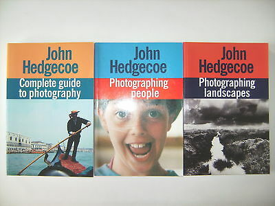 3 x JOHN HEDGECOE PHOTOGRAPHING LANDSCAPES PEOPLE