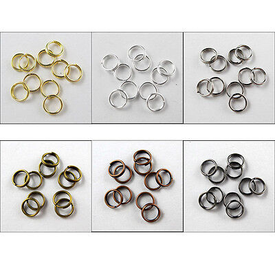 4mm,5mm,6mm,8mm,10mm,12mm,14mm Split Ring DOUBLE Connector 6Colors-1