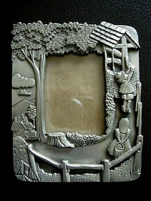 Beautiful Collectible KIRK STEIFF PEWTER Jack & Jill Picture Frame