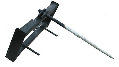 New Hay Spear Skidsteer Attachment Quick Attach Universal Hook-Up Free Ship!