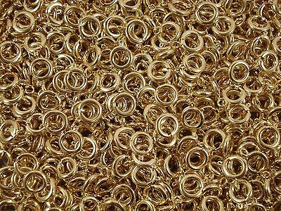 Bolt Spring Ring Clasps 9mm Gold 20pc Findings Jewellery Joiner FREE POSTAGE