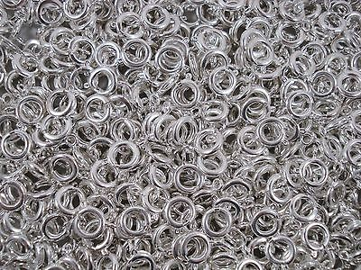 Bolt Spring Ring Clasps 9mm Silver 20pcs Findings Jewelry Necklace FREE POSTAGE