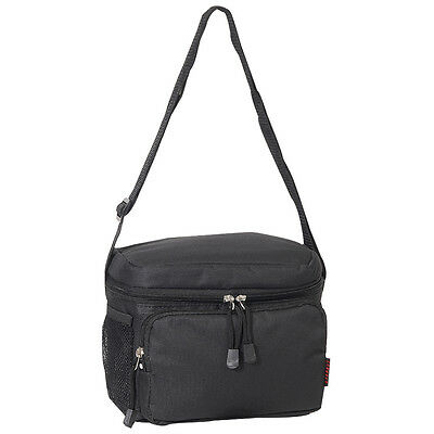 Everest Cooler/Lunch Bag with Insulated Cooler Interior, BLACK  LUNCH BOX