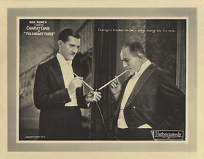THE UNEASY THREE (1925) Charley Chase, Bull Montana Hal Roach Silent Film Comedy
