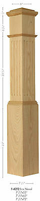 F-4092 Large Amish Made Fluted Box Newel Post in Poplar