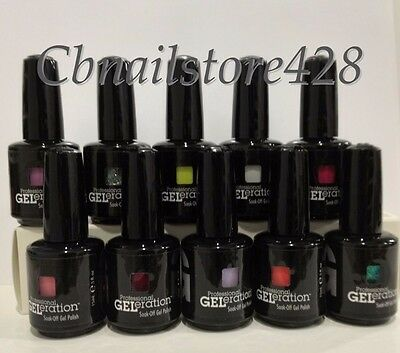 Jessica GELeration Soak Off Gel Polish 0.5oz/15ml- Set of 10 Colors