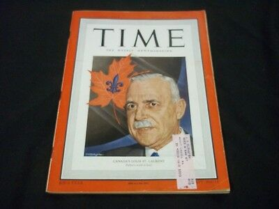 1949 SEPTEMBER 12 TIME MAGAZINE - CANADA'S LOUIS ST. LAURENT - FRONT COVER -G198