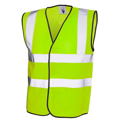 Yellow Hi Vis Vest High Visibilty Waistcoat Site/ EU Approved Hi Viz S-XXXXL