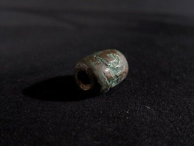 Extremely rare ancient Near Eastern bronze seal with two riders chasing a bull