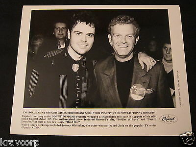 DONNY OSMOND—1989 PUBLICITY PHOTO w/JOHNNY WHITTAKER