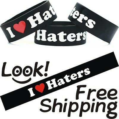 I Love Haters Wristband DGK Bracelet Free Shipping Heart My Haters Wrist Band