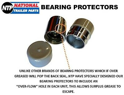 Trailer Bearing Buddies Pair - Bearing Protectors With Dust Cover Caps 45Mm Boat