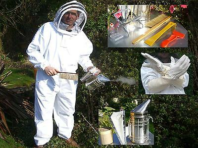 BUZZ Beekeepers complete starter kit - SUIT, GLOVES STAINLESS SMOKER AND TOOLS
