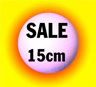 15cm 150mm Polystyrene Balls LARGE solid - top quality - craft candy sweet trees