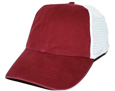 d3054b6302a08d Nike Bauer Blank Adjustable Relaxed Fit Mesh back Burgundy Hockey Cap Hat