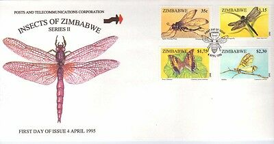 Zimbabwe, 1995 Insects, Sg 904-907,  On Illustrated Fdc
