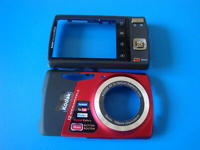 KODAK EASYSHARE M530 RED FRONT & BACK CASES FOR REPLACEMENT REPAIR PART