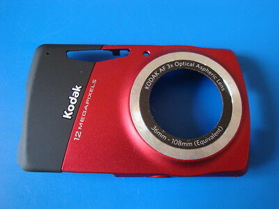 KODAK EASYSHARE M530 RED FRONT CASE FOR REPLACEMENT REPAIR PART