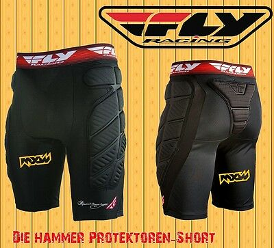 FLY Racing Compression-fox Short 2017 Protektoren Hose Motocross Enduro MTB FMX