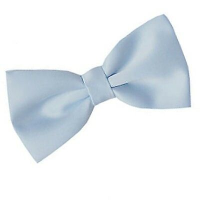 Mens or Boys Baby Blue Pre Tied Bow Tie Adjustable Wedding Dinner Prom Dickie