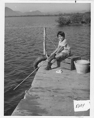 Manuel Padilla Jr. fishes Tarzan VINTAGE Photo