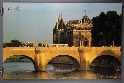 The Pont Neuf Wrapped. Rare Hand-Signed Javacheff Christo Poster, Wolfgang Volz