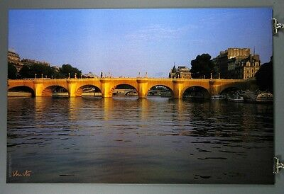 The Pont Neuf Wrapped. Rare Hand-Signed Javacheff Christo Poster, Jeanne-Claude