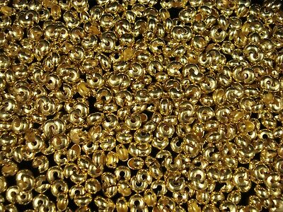 Crimp Covers 20pc Gold Plated 6mm Jewellery Beading Jewelry Crimped FREE POSTAGE