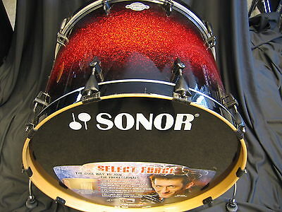 "Bass Drum SONOR Select Force 24x17"", red sparkle burst, black Hardware,Ausst.St."