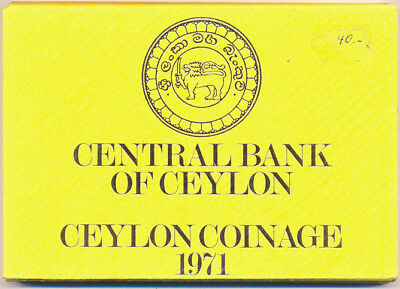 Ceylon KMS 1971 Coinage from Ceylon st