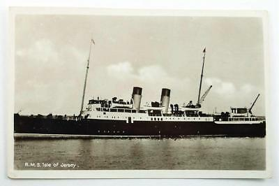 Vintage Real Photo Ship's Postcard - R.M.S. Isle of Jersey c. 1938