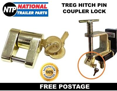 Coupling / Hitch Lock - Suits At35 Treg Trigg & Us Couplings Caravan Trailer 4Wd