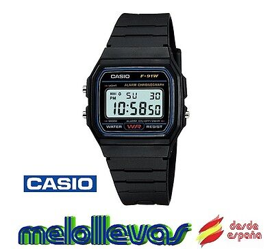Reloj digital Casio f91w retro - UNISEX - alarma (Original)