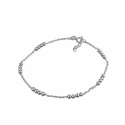 NEW...925 Sterling Silver Beautiful Snake with Bead Clusters Ankle Chain Anklet