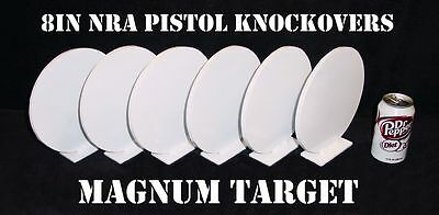 Steel Shooting Targets - 8 Inch Round Knockovers - NRA Action Pistol Plates
